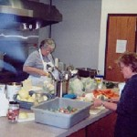 Working hard in the Community Kitchens