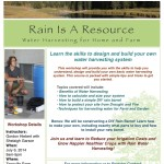 Workshop on Water Harvesting for Home and Farm Use on July 6