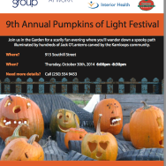 9th Annual Pumpkin of Lights Festival at Gardengate on Thursday, October 30!