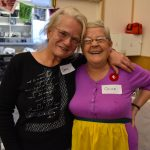 Barb and Olive, volunteers