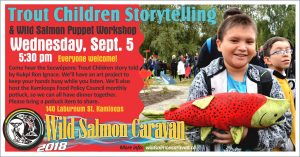 Wild Salmon Caravan Trout Children Story Telling @ Mount Paul Community Food Centre