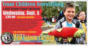 Wild Salmon Caravan Trout Children Story Telling @ Mount Paul Community Food Centre