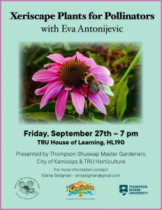 Xeriscape Plants for Pollinators @ TRU House of Learning HL190